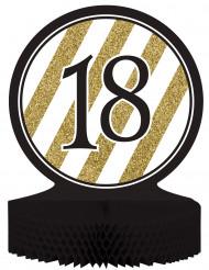 Centro de mesa 18 años negro y dorado