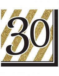 16 Servilletas 30 años
