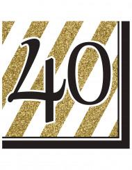 16 Servilletas 40 años