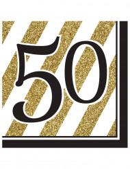 16 Servilletas 50 años