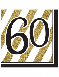 16 Servilletas 60 años