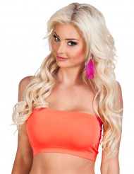 Top ajustado naranja fluorescente mujer