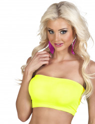 Camiseta Top amarillo fluorescente mujer
