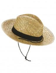 Sombrero vaquero paja adulto