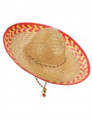Sombrero mexicano adulto paja
