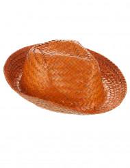 Sombrero Panamá naranja adulto