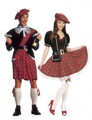 Disfraz de pareja escocesa para adulto
