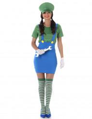 Disfraz de fontanero verde mujer
