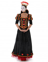 Disfraz reina de corazones mujer negro
