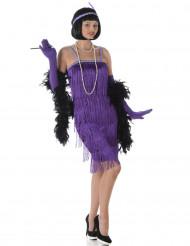Disfraz de charlestón violeta mujer