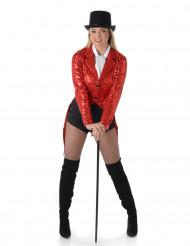 Disfraz de cabaret rojo mujer