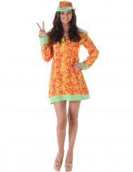 Disfraz de disco hippie mujer