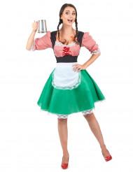 Disfraz de bávara para mujer con delantal