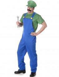 Disfraz de fontanero verde hombre