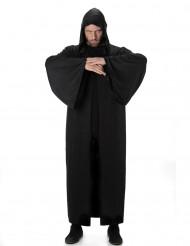 Capa larga con capucha negra Halloween