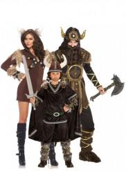 Disfraz de familia vikingos