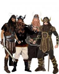 Disfraz de grupo tribu vikinga