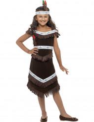 Disfraz india marrón niña
