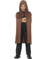 Capa marrón con capucha niño