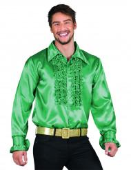 Camisa disco verde oscuro hombre