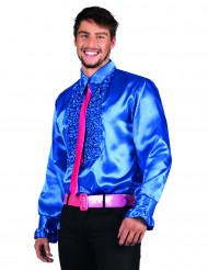 Camisa disco azul hombre