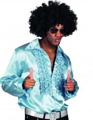 Camisa disco azul claro hombre