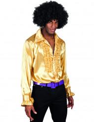 Camisa disco dorada hombre