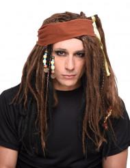 Peluca pirata de hombre