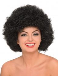 Peluca afro negra mujer