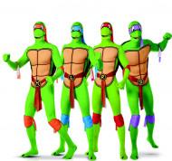 Disfraz de grupo Tortugas Ninja™ segunda piel adulto