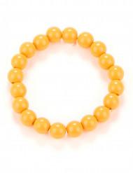 Pulsera perlas naranja adulto