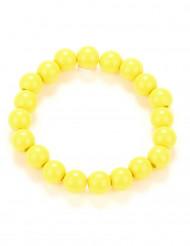Pulsera perlas amarillas adulto