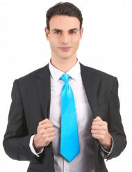 Corbata azul fluorescente adulto
