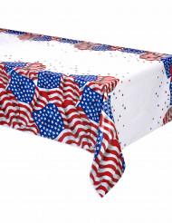 Mantel de plástico bandera USA 137x213 cm