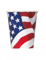 8 Vasos de cartón USA