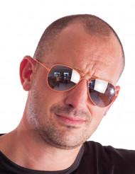 Gafas aviador naranja fluorescente adulto