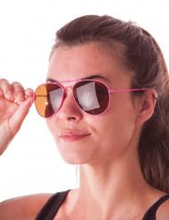 Gafas aviador rosa fluorececente adulto