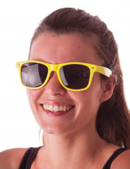 Gafas blues amarillo fluorescente adulto