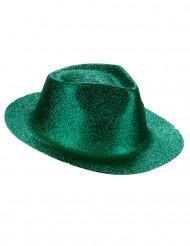 Sombrero brillante verde adulto