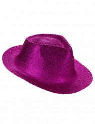Sombrero purpurina rosa adulto