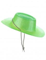 Sombrero vaquero verde brillante adulto