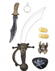 Kit accesorios pirata corsario niño