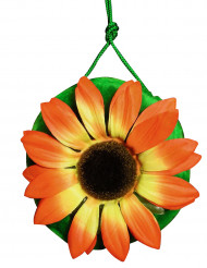 Bolso hippie verde con flor