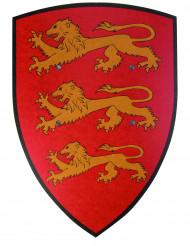 Escudo rojo león madera 36x50 cm