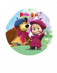 Disco de azúcar Masha y el oso™ 21 cm