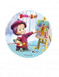 Disco de azúcar Masha y el Oso™ 21 cm cumpleaños