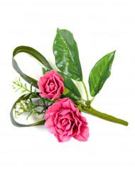Decoración de mesa flores artificiales rosa