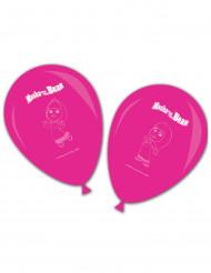 8 Globos de látex rosas Masha y el Oso™