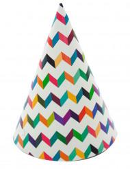 6 Gorros de fiesta trendy multicolores