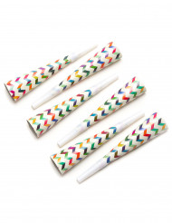 6 Trompetas fiesta trendy multicolores